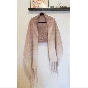 MerSea Pink Fuzzy Soft Ombre Blanket Scarf